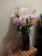クラスの方から頂いたお花。美しいお花と芳香が幸せな空気を作ってくれた。