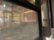 窓ガラスの向こうの風景