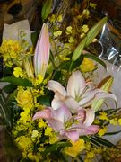 頂いたお花。お花大好き。母にも見せたい。